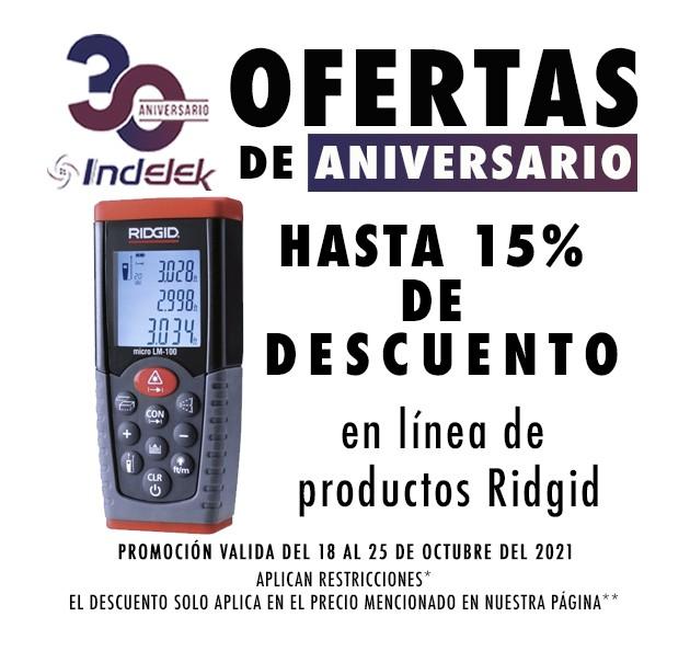 Ofertas de aniversario Ridgid
